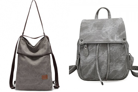 Mochila gris mujer casual