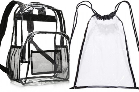 XQK Mochila Transparente De PVC Mochila Escolar Transparente Mochila Informal Impermeable Mochila De Playa Mochila para Viajes De Trabajo Escolar